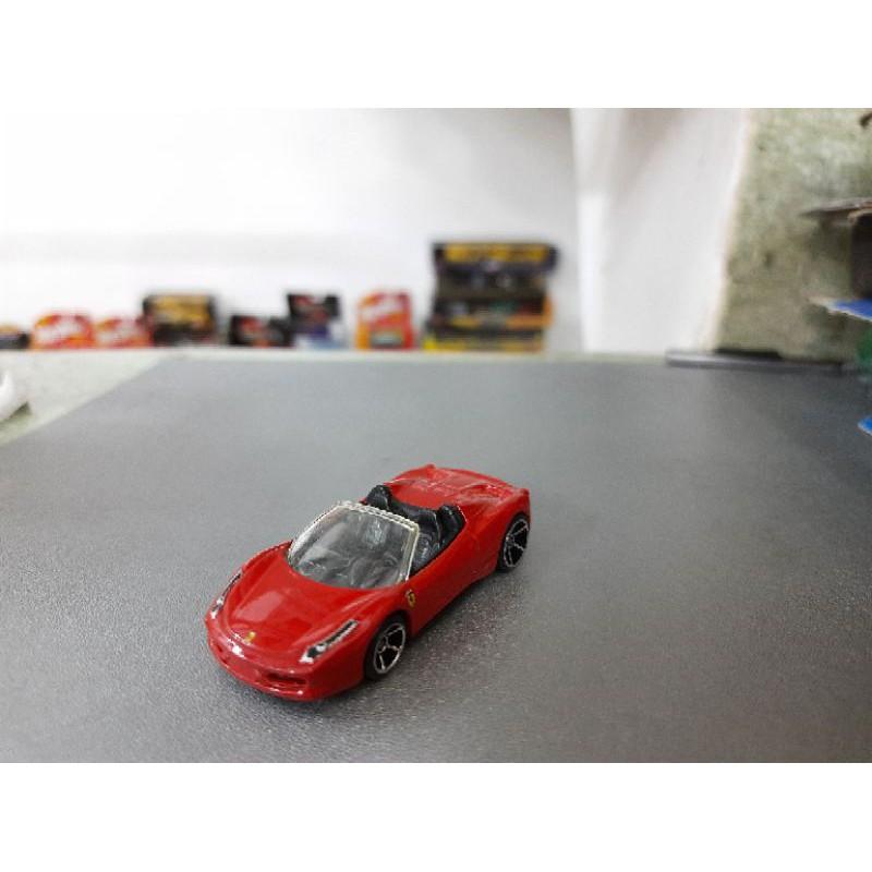 xe Hot Wheels Ferrari 458 mui trần màu đỏ , hàng hiếm
