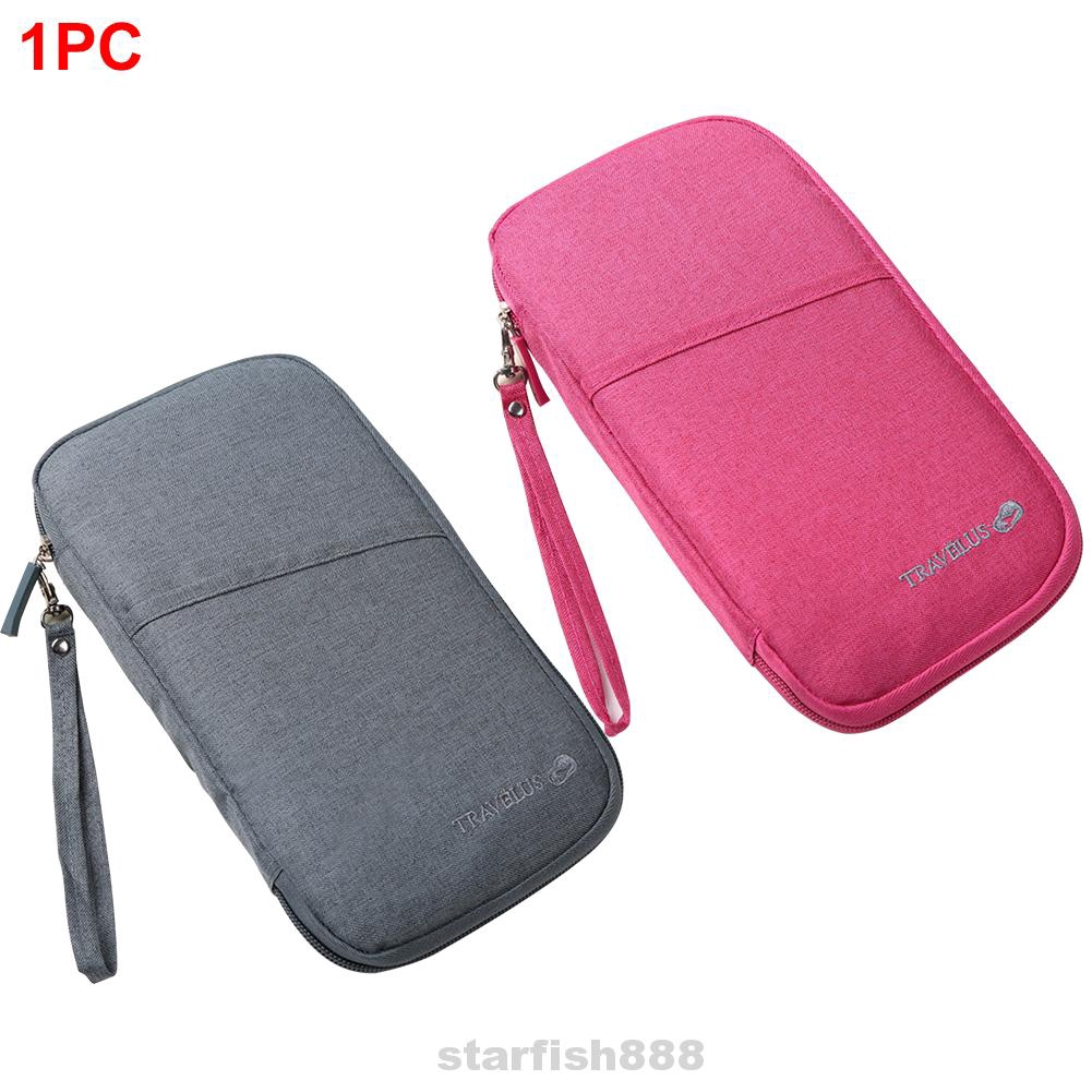 Accessories Bag Cash Documents For Cards Multifunction Organizer Travel Wallet Waterproof Passport Holder