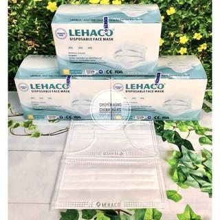 Khẩu Trang Kháng Khuẩn Màu TRẮNG Lehaco 4 lớp 50 cái hộp - Khẩu Trang y tế Lehaco Kháng Khuẩn thumbnail