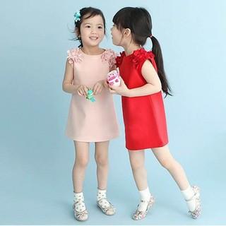 Đầm cotton không tay họa tiết hoa cho bé