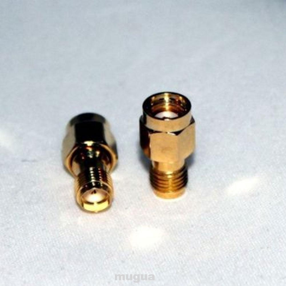 2pcs/set RF Connector Adapter Gold Plated 50 Ohm Converter Mini Straight SMA Female To RP-SMA Male