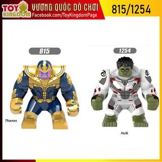 2 Mô Hình Lắp Ráp Non-LEGO Siêu Anh Hùng Hulk + Thanos Siêu Khổng Lồ 815-1254