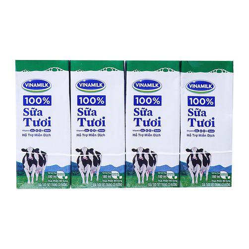 Thùng 48h Sữa tươi vinamilk 100% hộp 180ml ❤️KHÁCH LƯU Ý ::::(Shop bán 293k k tặng thêm 4hộp ạ)