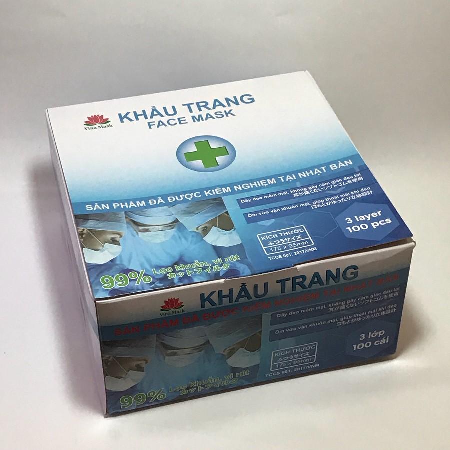 Khẩu trang y tế Nhật Vinamask 100% An toàn sức khỏe (hộp 100 cái - Trắng) - 3352972 , 773566494 , 322_773566494 , 100000 , Khau-trang-y-te-Nhat-Vinamask-100Phan-Tram-An-toan-suc-khoe-hop-100-cai-Trang-322_773566494 , shopee.vn , Khẩu trang y tế Nhật Vinamask 100% An toàn sức khỏe (hộp 100 cái - Trắng)