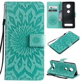 For Motorola Moto Z3 Z4 play Embossed Leather Cover phone