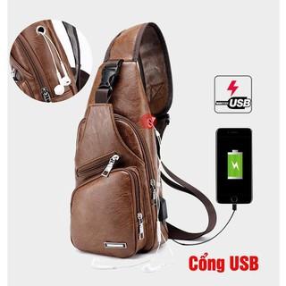 Túi đeo chéo nam chính hãng tặng tai nghe + dây usb_tuanthanh