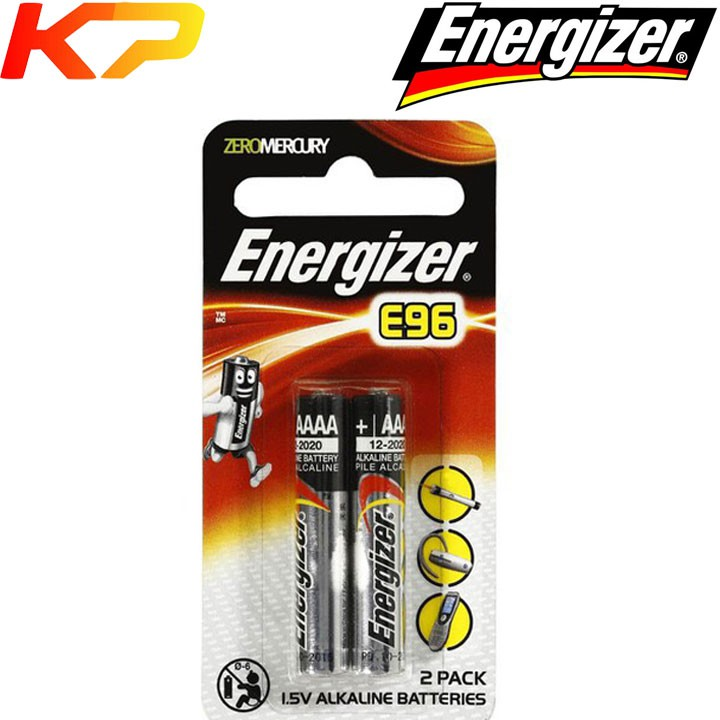 Pin AAAA 4A E96 1.5V energizer alkaline (vỉ 2 viên).