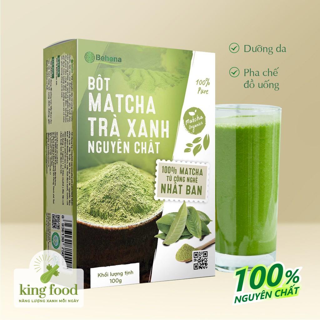 Bột Matcha Behena nguyên chất 100% giúp làn da mịn màng, giảm cân và phòng ngừa bệnh hiệu quả - Hộp 50g