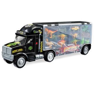 Dinosaur Transport Truck Carrier Toy Set Dinosaur Transport Truck with 3 Dinosaurs