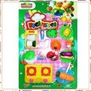 (Giá Không Tưởng)Bộ đồ chơi trẻ em cắt rau củ cực đẹp(Nhựa Chợ Lớn An Toàn cho bé)