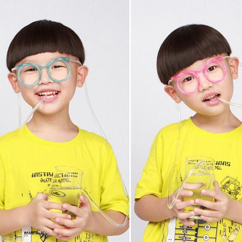 Ống hút hình mắt kính dễ thương -video gốc