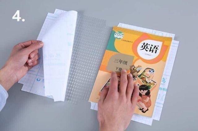 Com bo 10 bọc vở decan dán sách vở (Tặng kèm 10 nhãn vở)