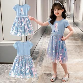 Đầm công chúa elsa lấp lánh cao cấp hot trend J302