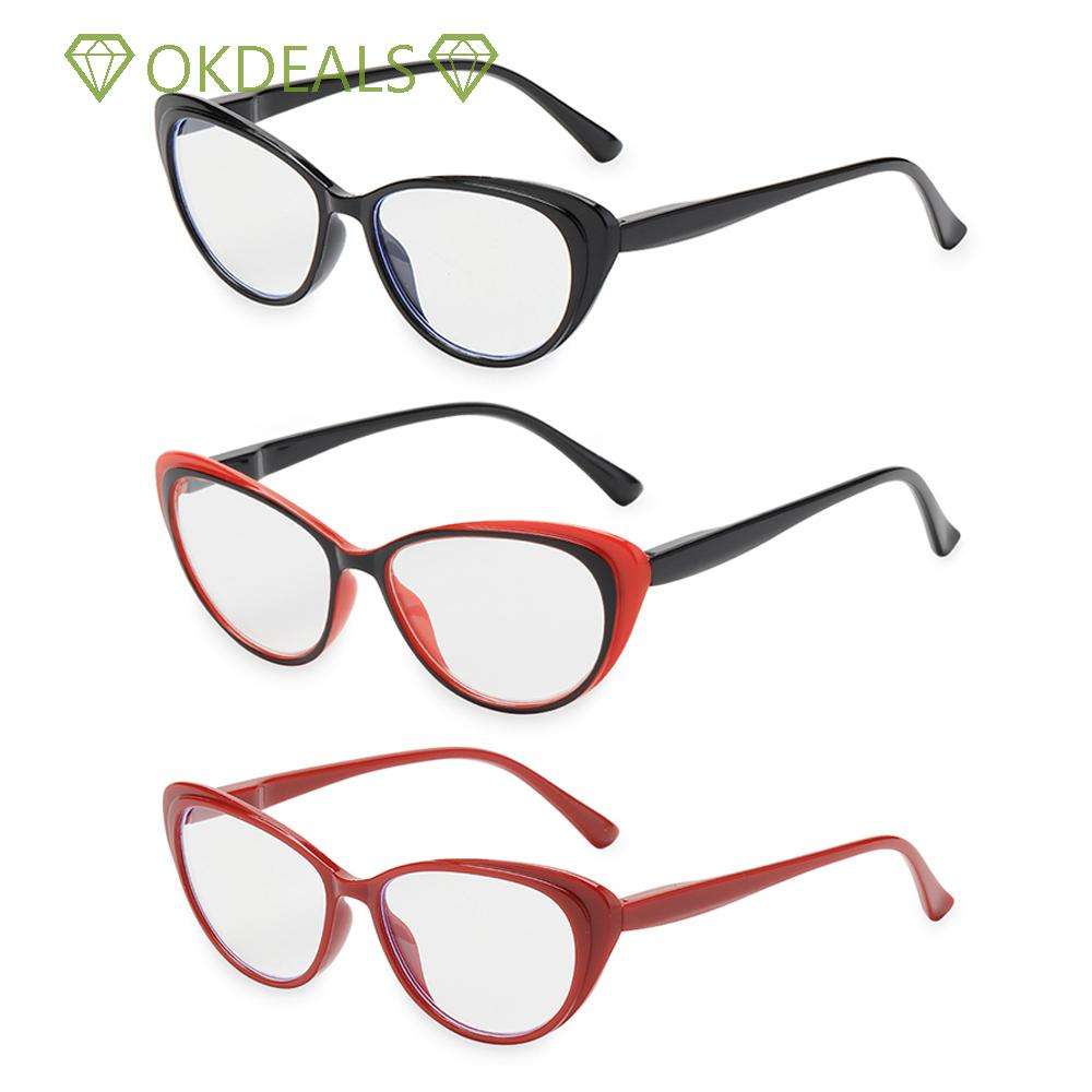 💎OKDEALS💎 Fashion Presbyopia Eyeglasses Round Floral Frame Spring Hinge Reading Glasses Women & Men Ultra-clear Vision Anti Glare Vintage Readers...