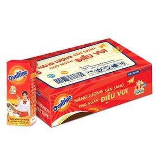 Thùng 48 Hộp Thức Uống Lúa Mạch Ovaltine Hương Vị Socola (180ml / 1 Hộp)