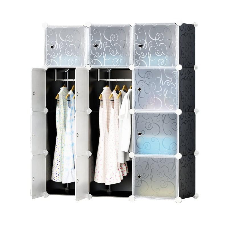 Tủ nhựa ghép,tủ quần áo,tủ nhựa đựng quần áo đa năng tâm house đủ 12 ngăn tâm house loại 47 ( đủ ngăn tặng treo )