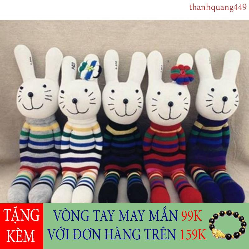 [Ảnh Thật] Set đồ tự làm thỏ bông cho bé mê handmade (1 con)