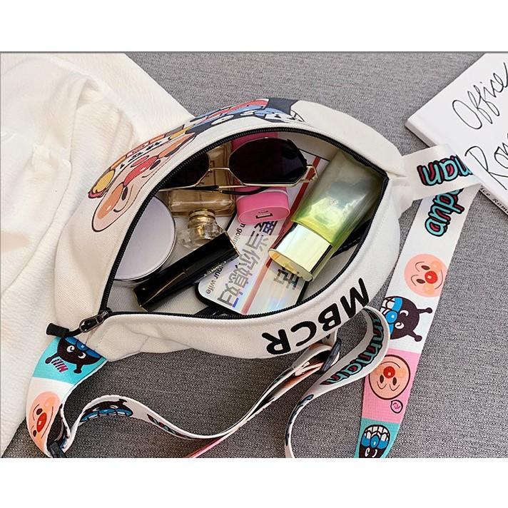 [Mã SKAMCLU7 giảm 10% tối đa 50K đơn 0Đ] LEEVA - Túi đeo chéo bao tử nữ vải bố cao cấp L260