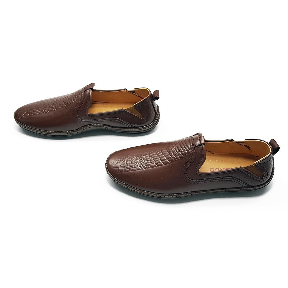 Giày Lười Nam Da Bò Thiết Kế Đột Phá 2018 Siêu Chất Ensado GL19MC (Đen)