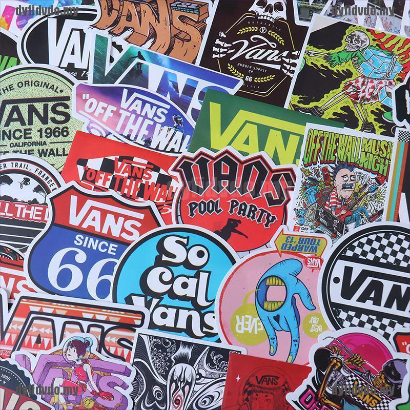 Bộ 100 Miếng Dán Graffiti Graffiti Trang Trí Ván Trượt, Laptop, Đàn Guitar Xe Hơi