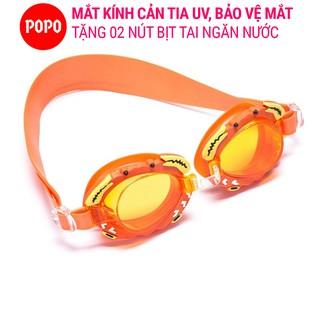 Kính bơi trẻ em với mắt kính hình cua POPO, kiểu dáng thời trang, ngăn nước tuyệt đối thumbnail