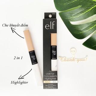 [CHÍNH HÃNG] Kem che khuyết điểm và bắt sáng ELF Under Eye Concealer and Highlighter Glow Medium 2 In 1 thumbnail