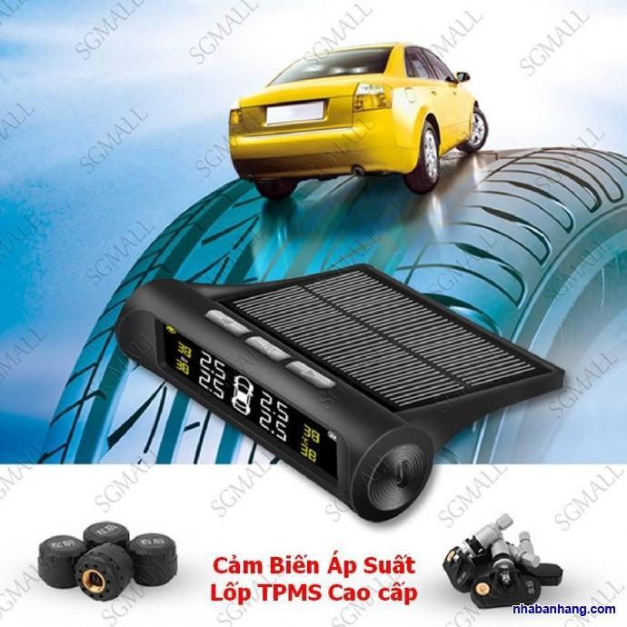 Cảm biến áp suất lốp van ngoài TPMS chống nước, màn hình led, pin năng lượng mặt trời - Better Car