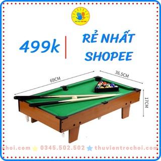 (Hàng sẵn) Đồ chơi bàn Bida mini gỗ Table Pool - Size lớn 69 37 17cm nhỏ 52 31 9cm thumbnail