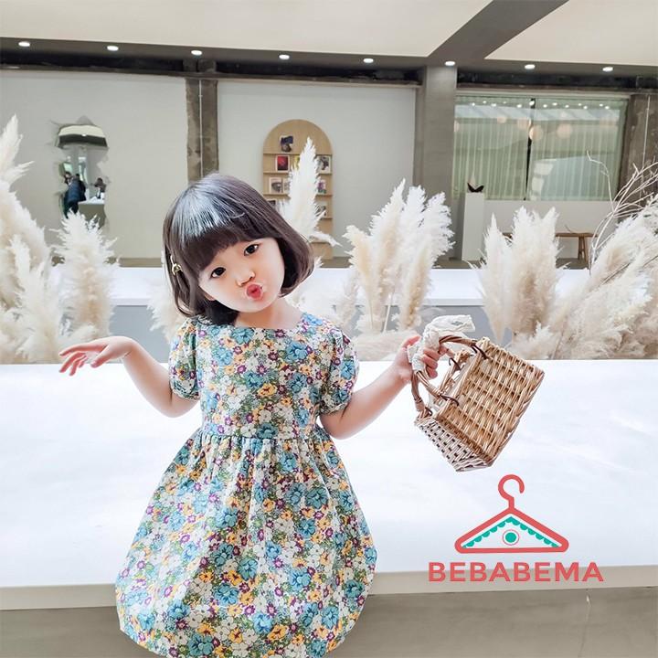 Váy bé gái -Đầm bé gái họa tiết thô hoa hottrend 2020 VBG04