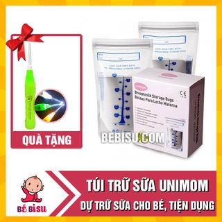 Combo 2 hộp Túi trữ sữa Unimom loại 30 túi tặng 1 lấy ráy tai đèn thumbnail