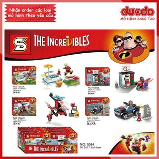 Combo Gia đình siêu nhân tuyệt đẹp – Đồ chơi Lắp ghép Xếp hình Minifigures Mini The Incredibles Non LEGO SY 1084
