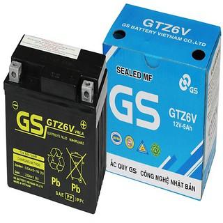 Bình Ắc Quy Khô GS GTZ6V (12V-5Ah) - Dành cho xe tay ga Honda, Yamaha. thumbnail