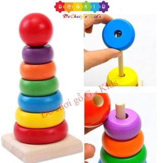 Đồ chơi gỗ - Tháp cầu vồng vivitoys