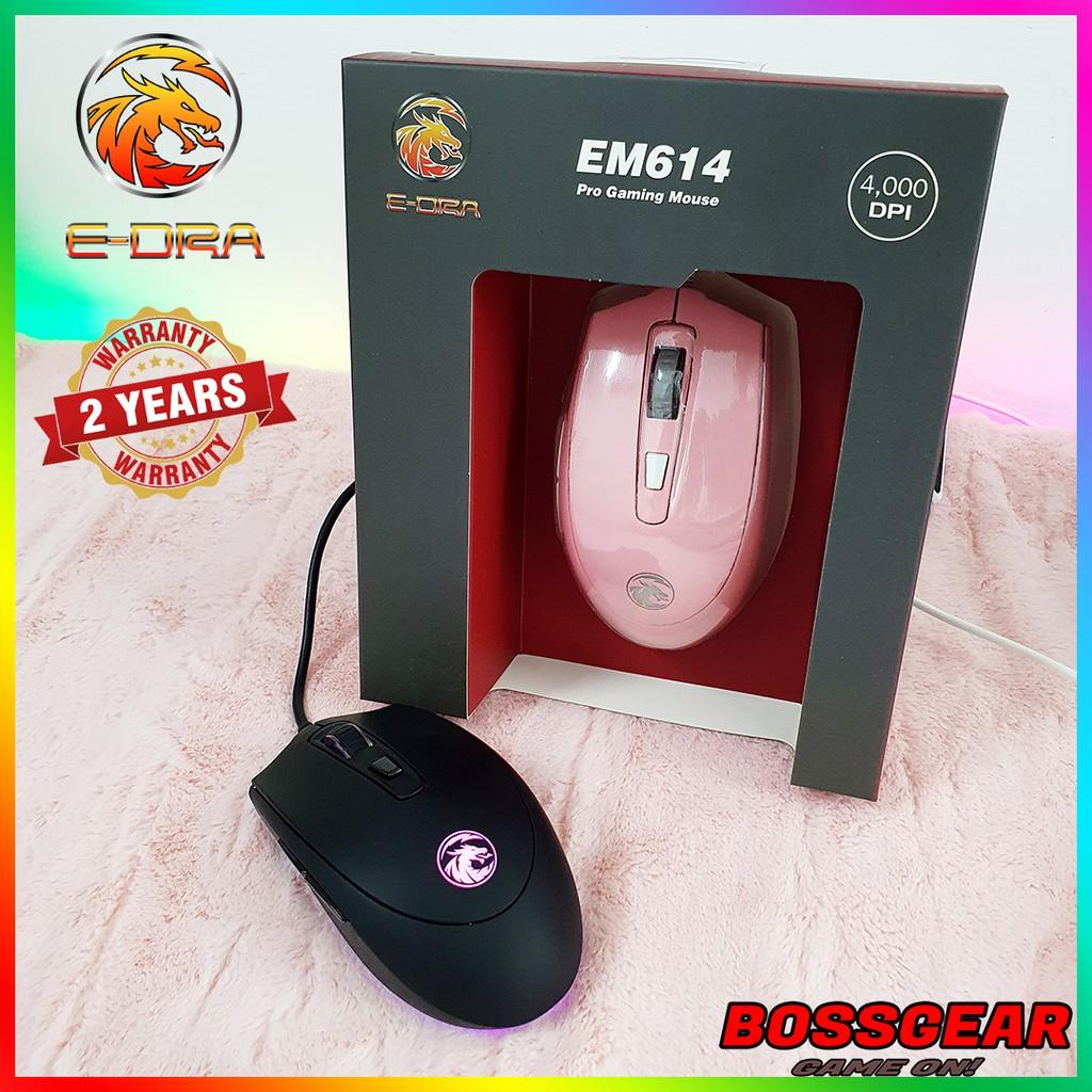 Chuột Gaming E-DRA EM614 ( 4000 DPI, Pixart 3350, Bảo hành 2 năm )