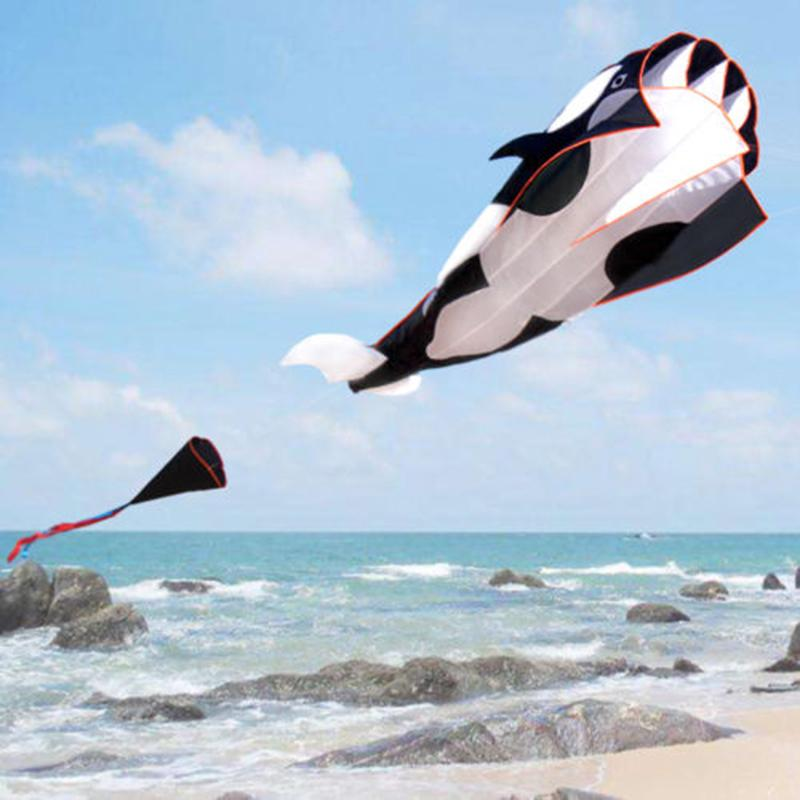 3D Whale Style Kite Single Line Large Flying Kite Children Outdoor Toy Kite