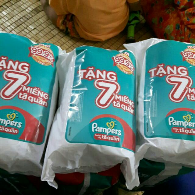 Combo 42 miếng sizeL quần pampers