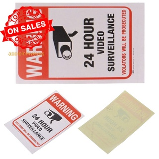 1pcs Home CCTV Video Surveillance Security Camera Alarm Signs Decal Sticker Warning T9L6
