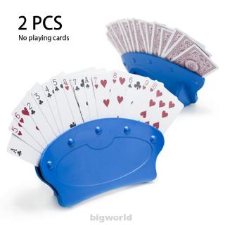 2pcs Entertainment Game Organizes Hands Free Arthritis Prevent Playing Card Holder