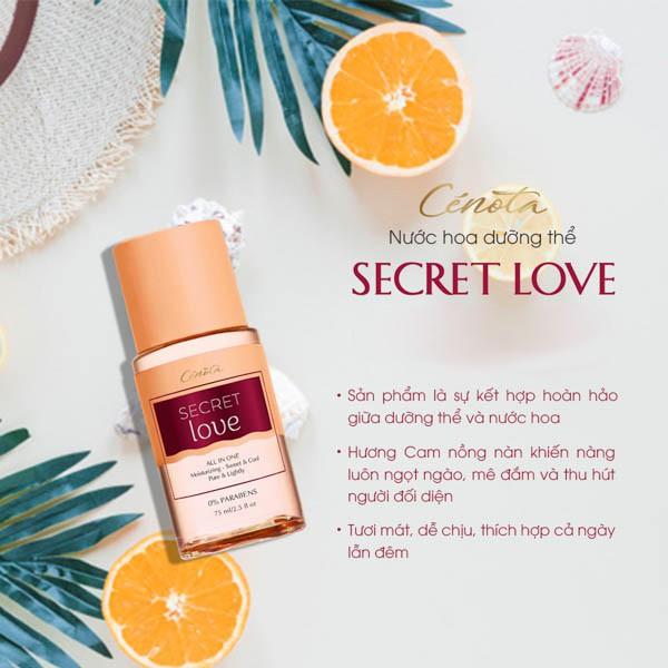 Nước hoa dưỡng thể Secret Love Cénota 75ml