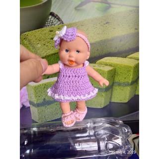 Quần áo kèm dép và băng đô cho búp bê 12.7 cm, Outfit doll 5 inch