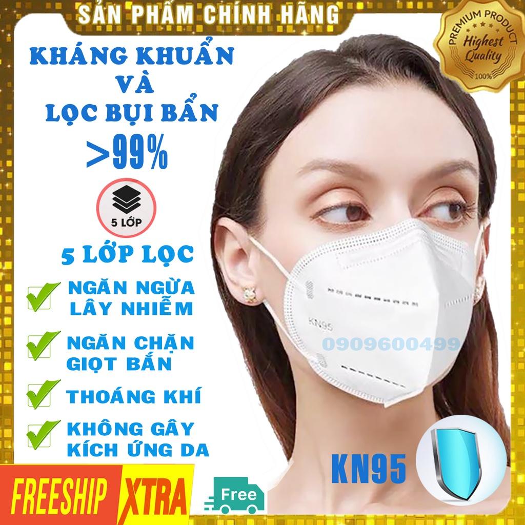 [Hộp 10 chiếc HÀNG CAO CẤP] Khẩu trang y tế 5 lớp KN95-N95 chính hãng không van cao cấp chống bụi kháng khuẩn DONAFA