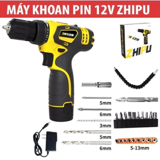 Máy khoan pin, máy vặn vít - ZHIPU chính hãng - 2768639 , 735908947 , 322_735908947 , 750000 , May-khoan-pin-may-van-vit-ZHIPU-chinh-hang-322_735908947 , shopee.vn , Máy khoan pin, máy vặn vít - ZHIPU chính hãng