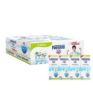 (Nhiều vị) Thùng 48 hộp sữa tiệt trùng Nestlé NutriStrong 180ml (ít đường/có đường/ việt quât/ trái cây)