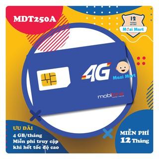 Sim 4G Mobifone MDT250A 4Gb/tháng – Trọn gói 12 tháng không nạp tiền