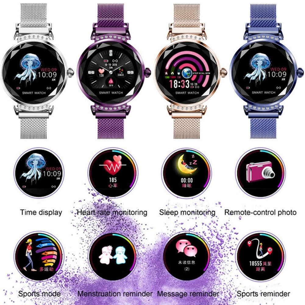 Multifunctional Blood Pressure Heart Rate Fashion Women Sleep Monitor Bluetooth Female Physiological Cycle Smart Watch