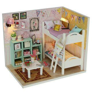 Mô hình nhà gỗ búp bê dollhouse DIY – M020 Cheryl's room