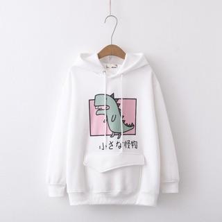 Áo hoodie nữ in hình khủng long