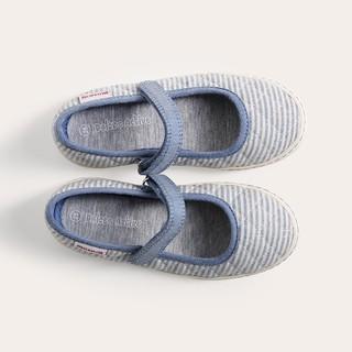 D&A giày búp bê bé gái BG1606 kẻ xanh thumbnail