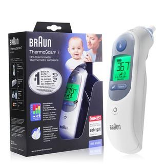 (Bản Quốc Tế) Nhiệt kế điện tử Braun ThermoScan 7 IRT6520 (đo tai)