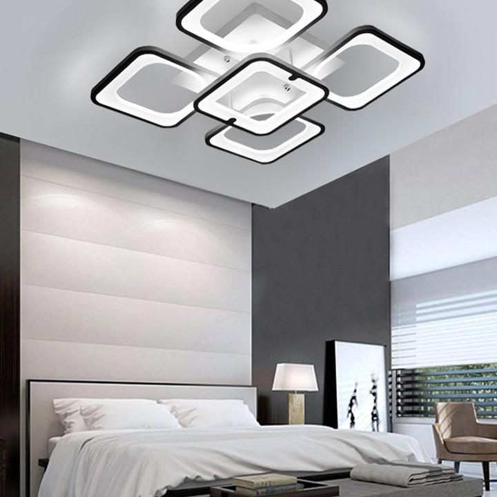 Đèn trần LED - đèn ốp trần - đèn trần trang trí 5 cánh vuông hiện đại